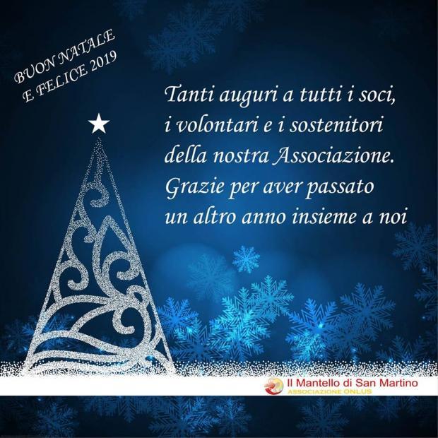Grazie E Buon Natale.Buon Natale E Felice 2019 Il Mantello Di San Martino